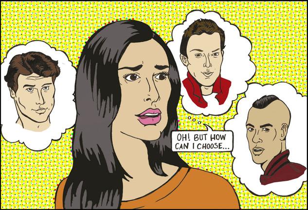 Glee pop art commission