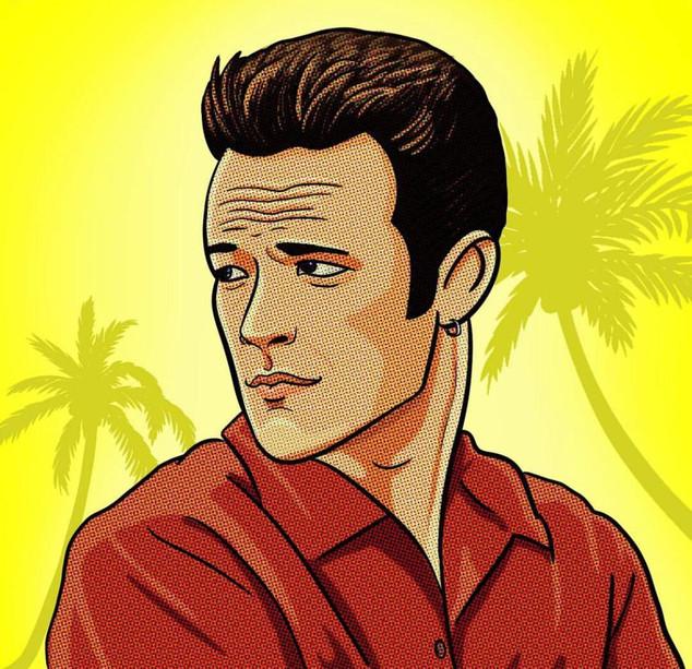 Luke Perry illustration
