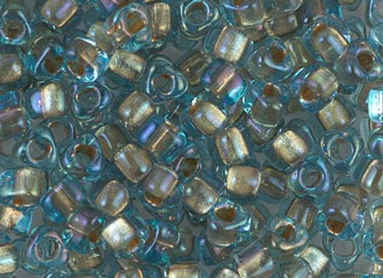 Sparkling Light Bronze Lined Aqua Luster