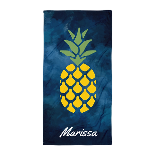 Personalized Pineapple Towel