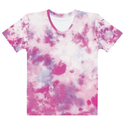 Pink Tie Dye Color Women's T-shirt
