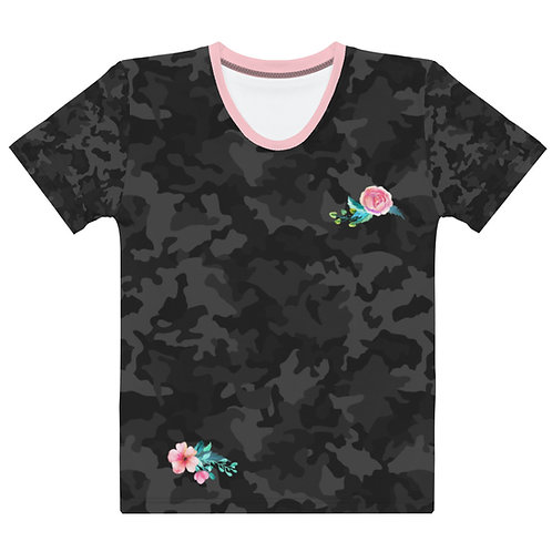 Camo with Roses Women's T-shirt