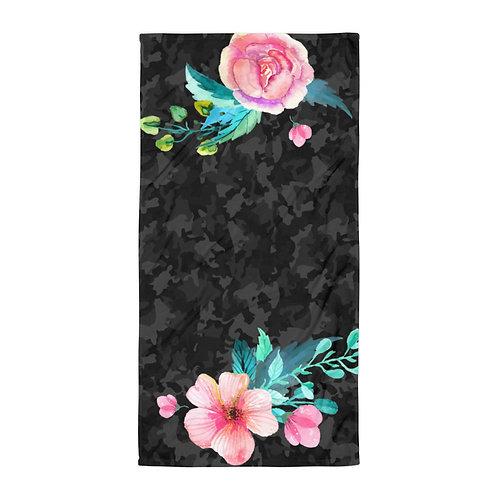 Camo Floral Towel