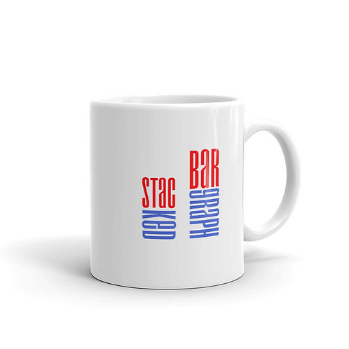 Dataviztypography - Stacked Bargraph - Mug