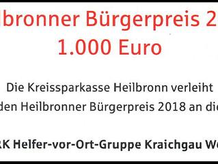 Kreissparkasse Heilbronn zeichnet das ehrenamtliche Engagement aus