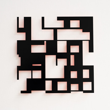 NORBERT THOMAS Objekt system-2, 2014 Lack auf Aluminium 80 x 80 cm