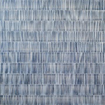 NIKOLA DIMITROV LichtSchatten III 2014 Pigmente, Bindemittel, Lösungsmittel auf Leinwand 80 × 80 cm