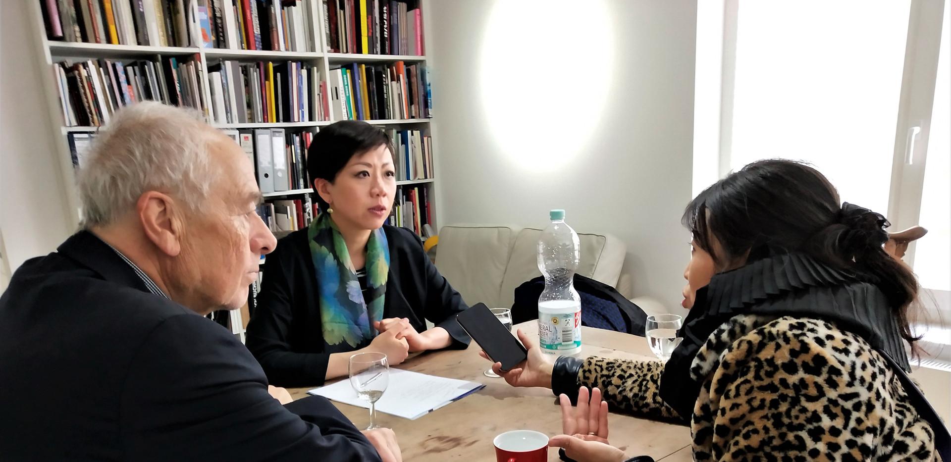 Interview mit Dieter Ronte, Xiao Xiao und Xiao Ge