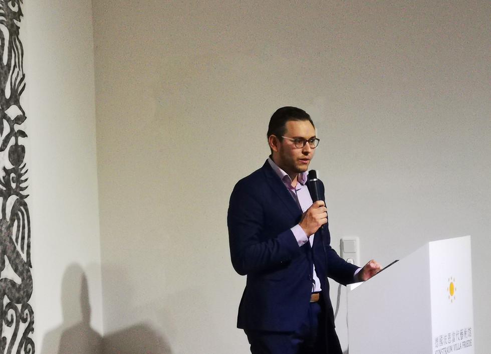 Redner Christoph Jansen - Bezirksbürgermeister Bad Godesberg