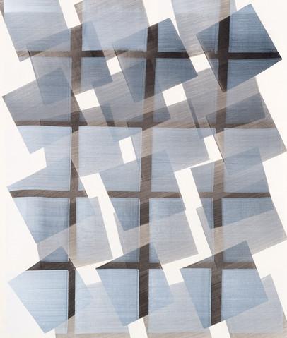 NIKOLA DIMITROV Fuge X 2016 Pigmente, Bindemittel, Lösungsmittel auf Bütten Blatt: 105,5 × 89 cm gerahmt mit Museumsglas: 1120 × 96 cm
