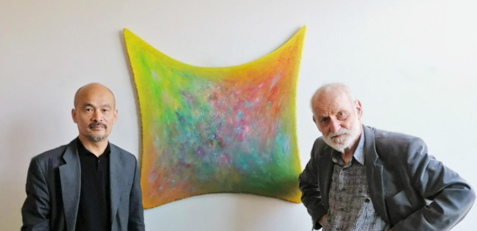 Künstler Ren Rong und Raimer Jochims