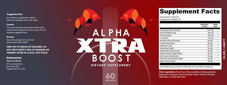 Alpha Xtra Boost Label