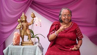Sree with Hanuman.JPG