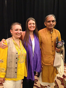 With my Ayurveda Teacher Vaidya RK Mishr