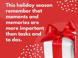 Nourish November: November 30- Moments and Memories Over Tasks