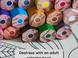 Nourish November: November 23- Destress with an Adult Coloring Book