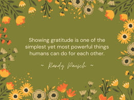 Nourish November: November 25- Gratitude