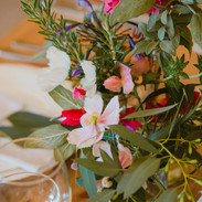 Rustic table centers