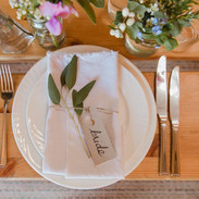 Simple but beautiful place setting