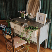 Our hire drawers, mirror and chair