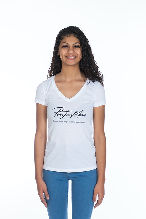 WOMENS White PJM Signature Campaign T-Shirt