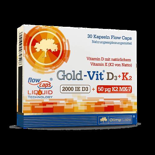 GOLD-VIT D3+K2 2000 - 30 KAPSELN