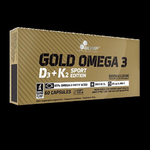 GOLD OMEGA 3 D3 + K2 SPORT EDITION - 60 KAPSELN