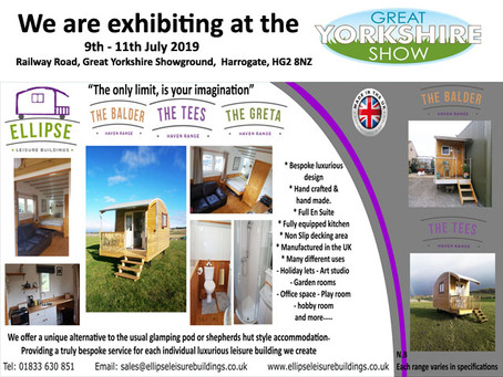 We are exhibiting at The Great Yorkshire Show. Come and see us on Stand 271  9th - 11th July 2019