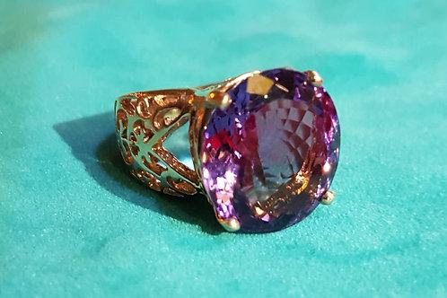 Перстень Аметист. 925 Золото.17