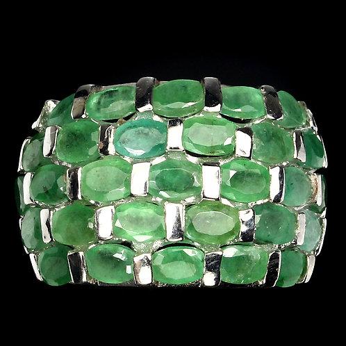 Инигма кольцо с Природными Изумрудами 925 пр