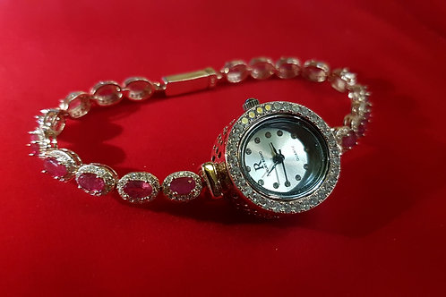 Часы с Рубинами.925 Золото