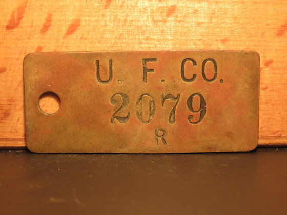 UFCO Brass Inventory Tag  2079