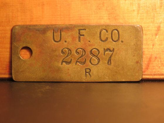 UFCO Brass Inventory Tag 2287