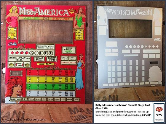 Bally Miss America Bingo Backglass