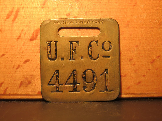 UFCO Brass Luggage Tag 4491