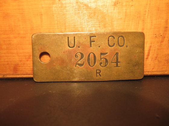 UFCO Brass Inventory Tag 2054