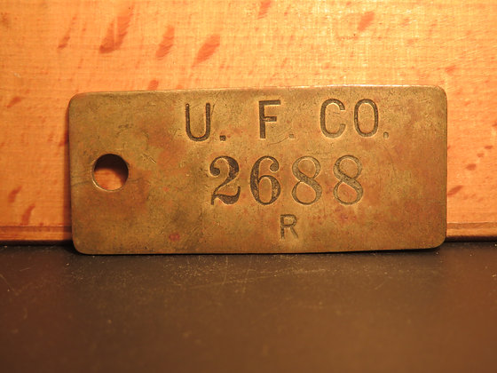 UFCO Brass Inventory Tag 2688