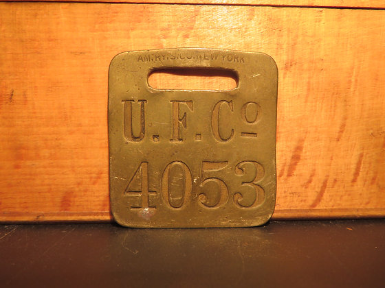 UFCO Brass Luggage Tag 4053