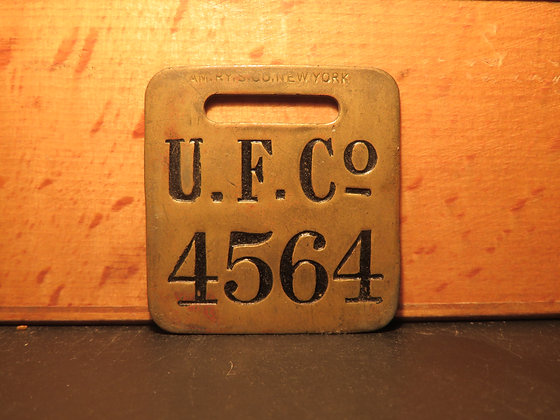 UFCO Brass Luggage Tag 4564
