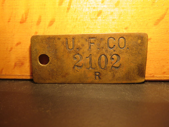 UFCO Brass Inventory Tag 2102