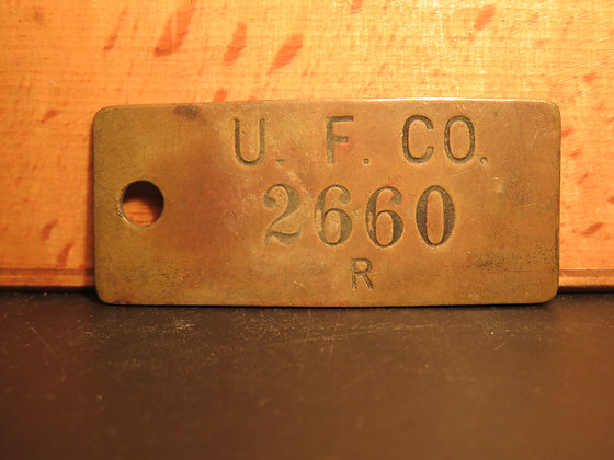 UFCO Brass Inventory Tag 2660