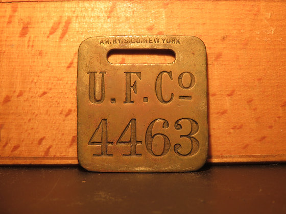 UFCO Brass Luggage Tag 4463