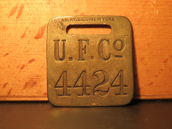 UFCO Brass Luggage Tag 4424