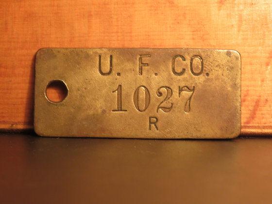 UFCO Brass Inventory Tag 1027