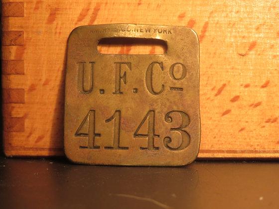 UFCO Brass Luggage Tag F4143