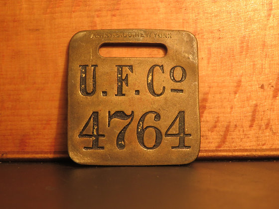 UFCO Brass Luggage Tag 4764