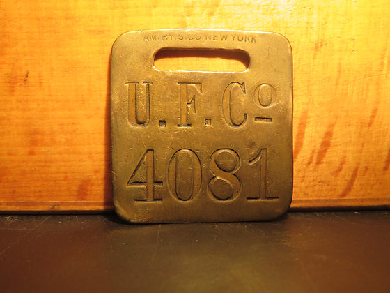 UFCO Brass Luggage Tag 4081