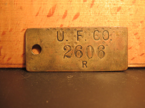 UFCO Brass Inventory Tag 2606