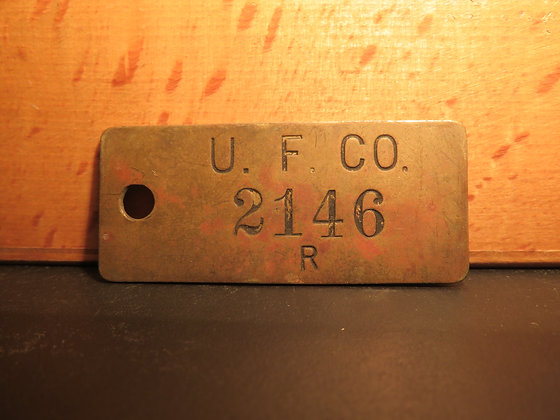 UFCO Brass Inventory Tag 2146