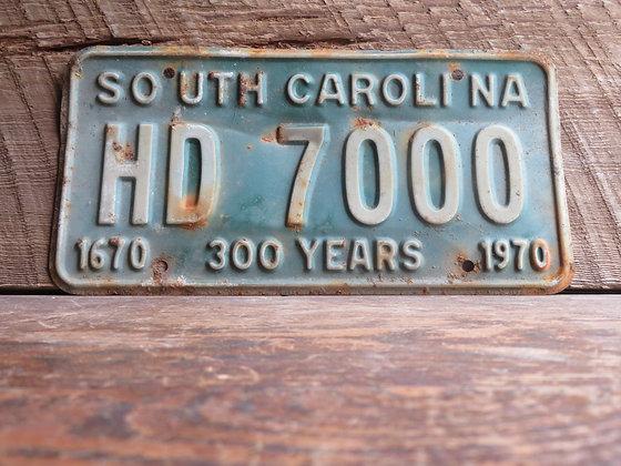 South Carolina TriCentennial License Tag HD 7000